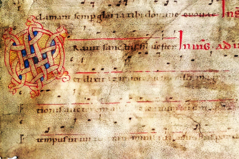 Liturgical fragments inside the oldest account book of Monte di Pietà di Bologna (1473-1519)
